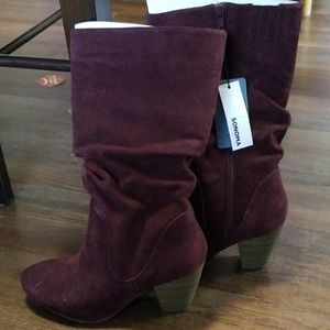 NWT burgundy boots